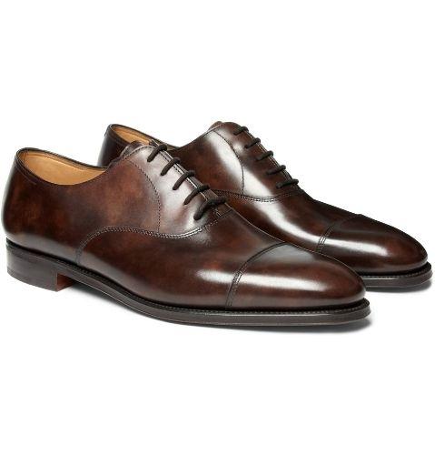 jb-001 定番】John Lobb City II Leather Oxford Shoes